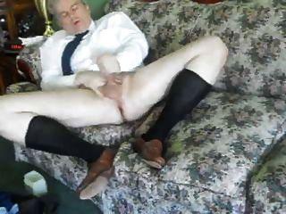 One Masculine Man Jacks Off In His Long Black Otc Socks