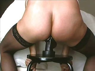 Having Fun With A Triple Buttplug