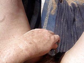 Masturbating Together At The Beach Part 2