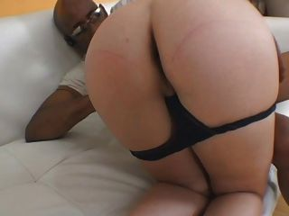 Hung Black Stud Lounges On The Couch And Gets His Hard Cock Deep-throated
