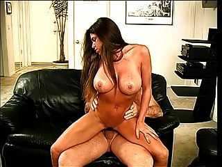 Long Haired Brunette Beauty Gets Naked And Sucks Old Guys Cock