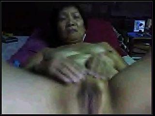Amateur Asian Granny On Cam