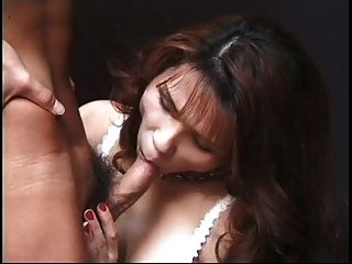 Japanese Shemale Loves To Lick Up And Down With Her Tongue.