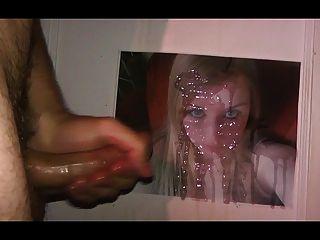 Huge Cumshot Tribute For Hot Blonde Girl