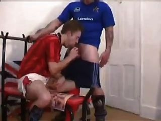 British Football Guys Fuck In The Changing Room