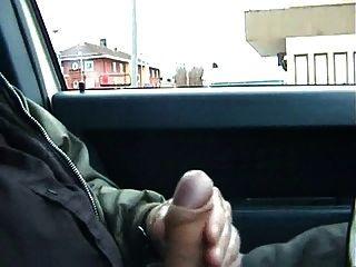 Public Car Stroking And Cum