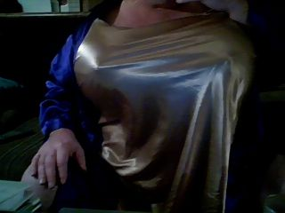 Massive Gold Satin Boobs  50ddds