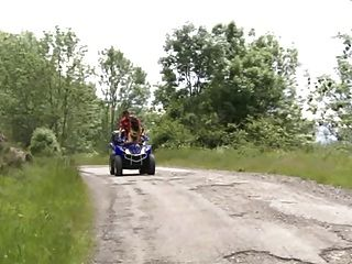 Outdoor Sex On Quad And On Climbing Dangerous Troia Culo