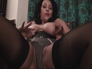 British Slut Danica Plays With Herself On A Chair Again