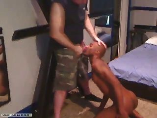 Black Master Makes Black Slave Suck Him