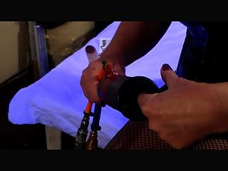 Masturbating Milking Machine Blo-n Go! Mistress Lora