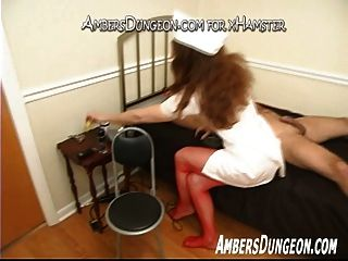 Nurse Ingrid Jerks Off Bound Slave