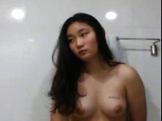 Korean Slut Touching Herself