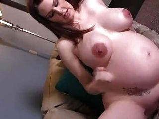 Pregnant Mom Helps You Jerk Off