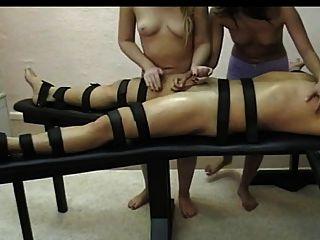 Naked Girls Tied Down Handjob
