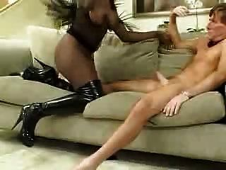interracial high heel slut footfucks