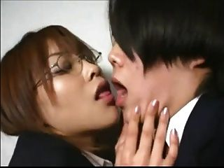 Japanese Office Girl Gives Bj And Snowball