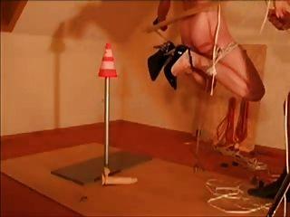 Amateur Slave Silvia Tit Hanging