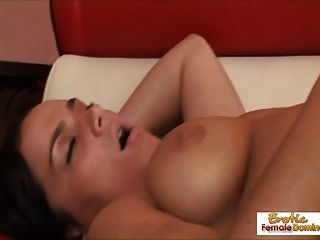 Mature Brunette Loses Her Lesbian Virginity Live On Camera