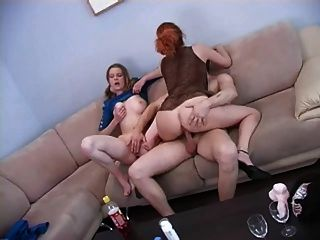 Mature With Male & Female Youths Threesome Ffm