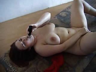 Chubby Amateur Redhead Masturbating And Fucking