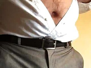 Str8 Daddy Play His Nipples