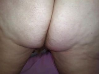 Her Hairy Asshole, Hairy Pussy,hanging Tits, Cumshot