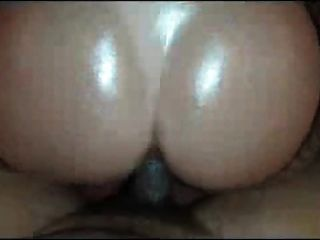 Big Round Ass Oiled Ride Black Cock.