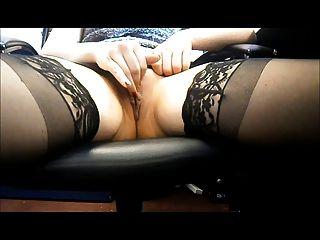 Amateur Office Masturbation