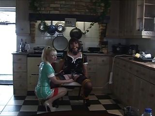 Nurse Madame C Teases Angelica In The Kitchen Again