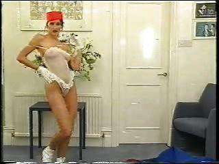 Sexy Bellhop Lady Strips It Off !!!