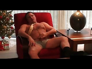 Hot Daddy Wanking Off After Work