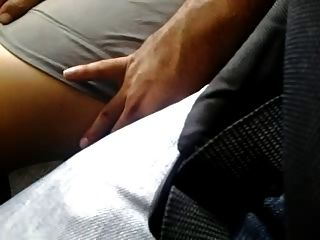 Very Sexy Legs Touch In Bus