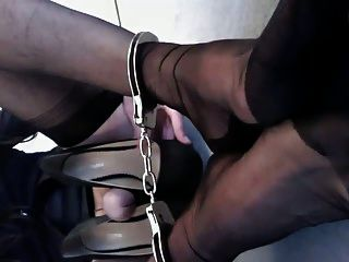 Transvestite Rachel Jerking Off Into High Heels 2