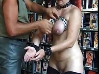 Pierced Mature Slave With Lots Of Heavy Piercings Bdsm