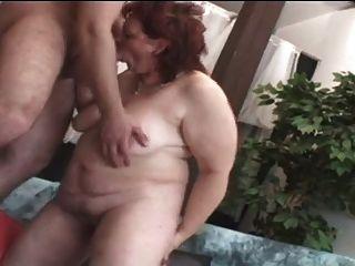 Chubby Milf Mature Woman Masturbates Herself