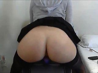 Fuck Dildo On Chair