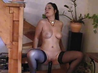 German Slut With Big Dildo