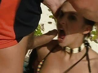 Beach Double Penetration, Cumshot