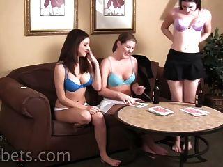 Paris, Ashley, And Addie Play Strip High Card