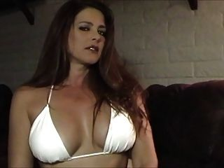 Hot Sexy Babe In Bikini Smoking And Teasing