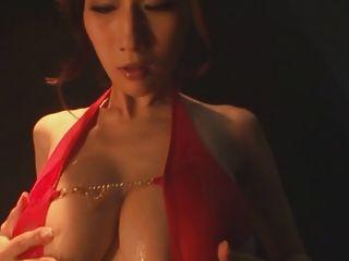 Julia Big Busty Japan Jav Pornstar Oily Swimsuit Teasing