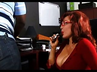 Vanessa Bella Blows A Black Cock