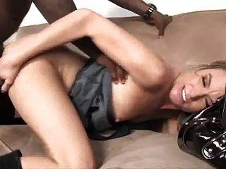 Cute Blond Milf Picking Up A Black Fella