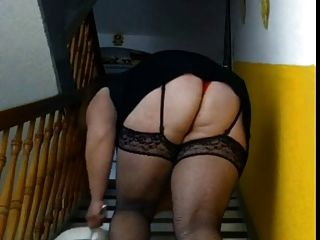 Bbw Sweeps The Stairs