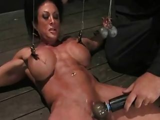 Bodybuilder In Bondage!