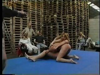 Naked Lesbian Skank Wrestling Pt2