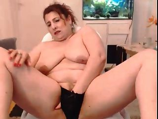 Black Satin Panties - Squirt On Webcam (big Tits!)