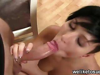 Punk Girl Sucks Cock For Fun