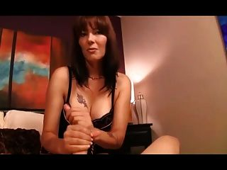 Lingerie And Handjob Fun With Step Mother